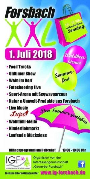 Forsbach XXL 2018 - Programm