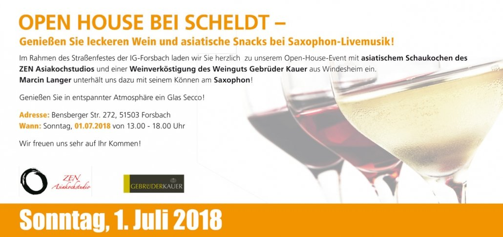 Forsbach XXL 2018 - Open House bei Scheldt