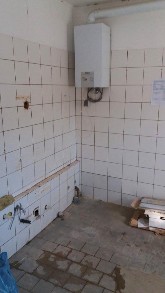 Baustelle Küche Buchmühle Ambiente Vorher