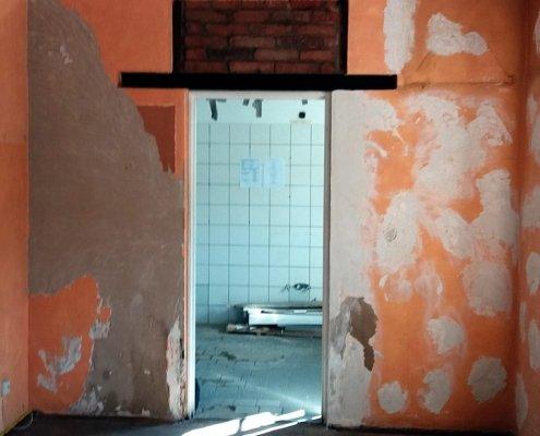 Baustelle Küche Buchmühle Durchbruch
