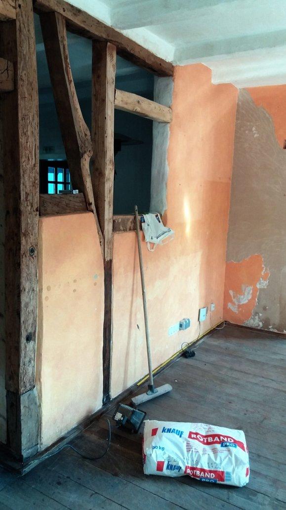 Baustelle Küche Buchmühle Fachwerk